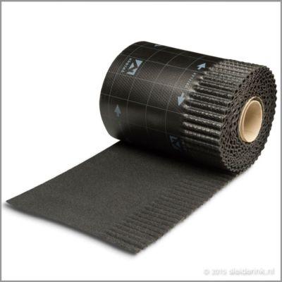 Ubiflex ribbel waterdichte laag 300mm rol 6m zwart