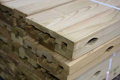 Ventilerend achterhout geimpregneerd 21x45mm lengte 360cm