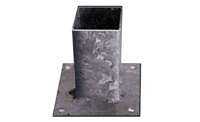 Vloerpaalhouder verzinkt 7x7cm