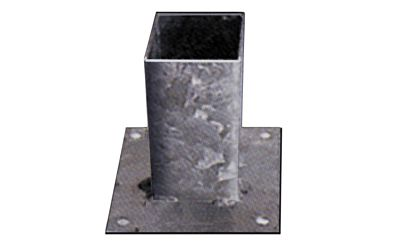 Vloerpaalhouder verzinkt 9x9cm