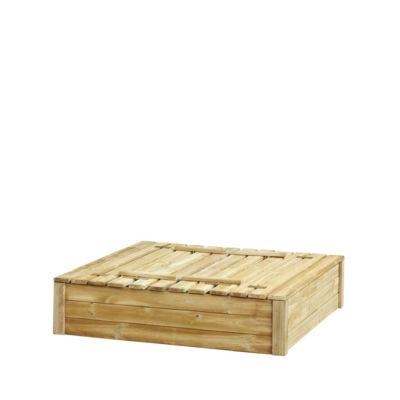 Zandbak met deksel/zitbank afm 120(L)x120(B)x30(H)cm