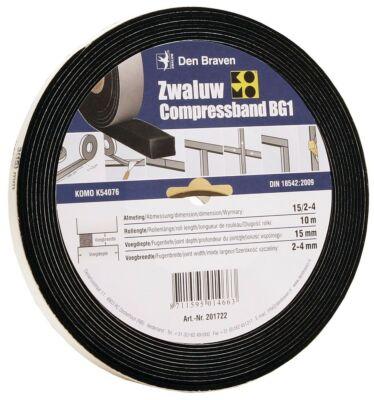 Den Braven zwaluw compressband 15/3 15x15 mm 10M/rol